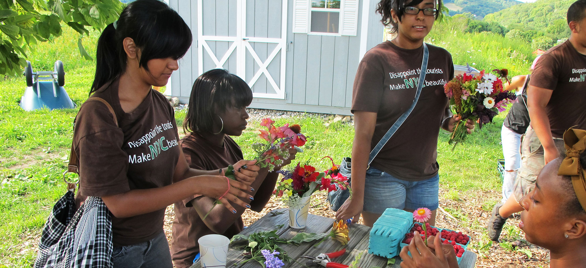 Visitors Make Their Own Bouquets
