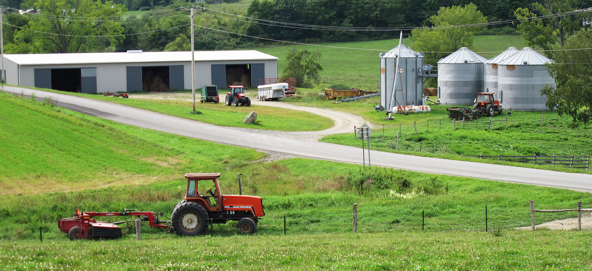 Tractors and Silos